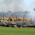 A barn fire, from horseandman.com