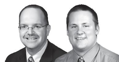 Dacotah Bank ag bankers Mark Oberlander and Trevor Samson