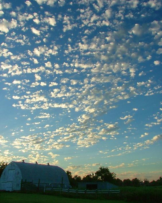 South Dakota sky, rural Frederick, August 2010. Photo by Heidi Marttila-Losure.
