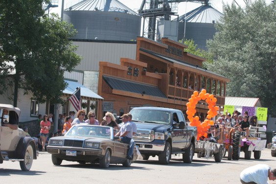 A parade makes its way down Garfield Street in Willow Lake during Willow Lake's All-School Reunion celebration on July 7, 2012. Photo by Clark County Courier