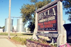 Hecla Community Center sign