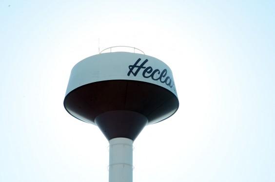 Hecla water tower