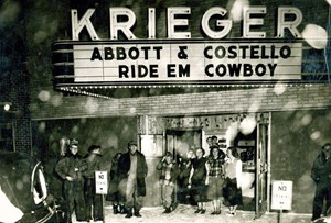 The Krieger Theater in Gackle, N.D., in its heyday. Photo by Tri-County News