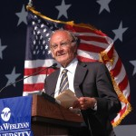 George McGovern at the dedication of the McGovern Library at Dakota Weslyan University. Image from http://www.mcgoverncenter.com