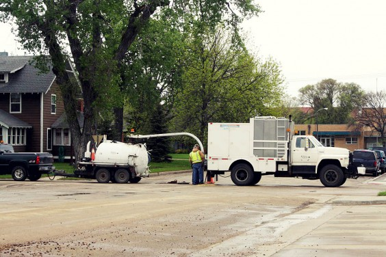 Sewer jetting and televising lines in Britton. Britton Journal photo