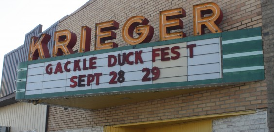 The Krieger Theater in Gackle, N.D., today. Photo by Tri-County News