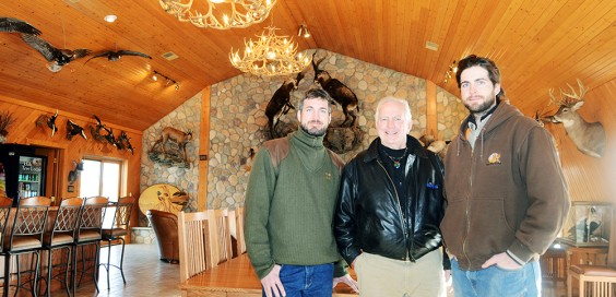 From left, Jason, Bill and Mike Makens represent the fifth and sixth generations to make a living on Oak Tree Farm. Photo by Troy McQuillen