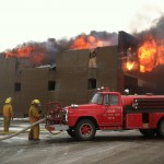 Kulm Volunteer Fire Department fought the fire for close to four hours on Saturday, Jan. 19, 2013. Photo by Sarah Gackle/Courtesy Kulm Messenger