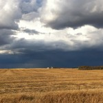 Savo Church, rural Frederick, S.D., with storm to the north. By Heidi Marttila-Losure
