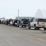 Supporters send off Garry Cunningham, who left Faulkton to receive cancer treatments. Photo by Faulk County Record