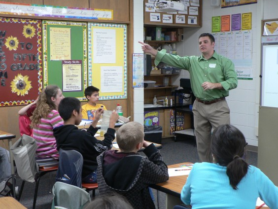 Andrew McCloud thinks it's important to teach kids about recycling. Photo courtesy South Dakota DENR