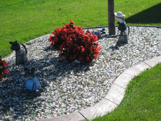Tumbled glass for landscaping is one of the products Glass Advantage makes. Photo courtesy Glass Advantage