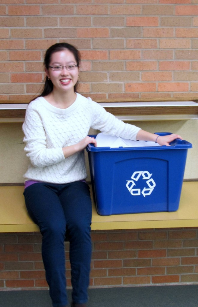 Amy Shan helped organize a recycling effort at Madison High School.