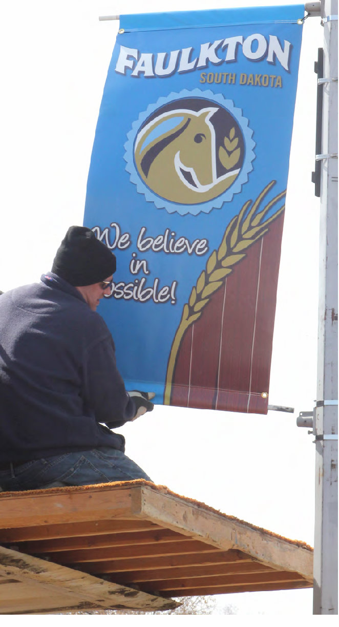 Faulkton Banners Feature New Community Slogan Dakotafire