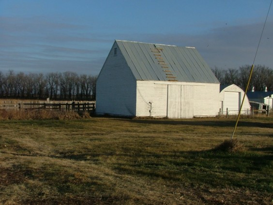 This is the granary on the Marttila farm before the family started work on converting it to a house. It had been built sometime in the 1950s. Photo by David Losure