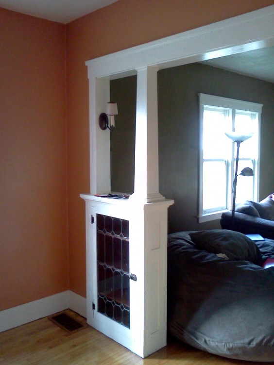 The Geyers painted the trim as one of their projects (it was not oak—Geyer said she knew it would be a sin to paint it if it was). Photo courtesy Karie Geyer