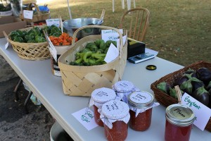 Goods at the Coteau Hills Farmers Market. Photo by Sarah Gackle