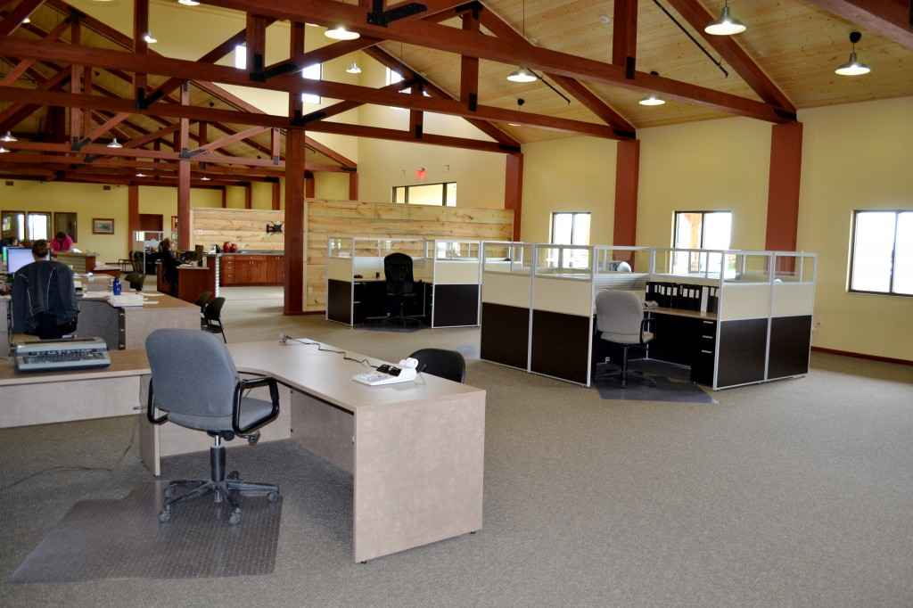 Upon entering the North Central Farmers Elevator building, visitors perceive space and light with high ceilings and open spaces in the work area. Photos courtesy NCFE