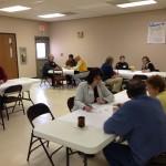 A dozen people participated in the first Dakotafire Café event. Photo by Joe Bartmann