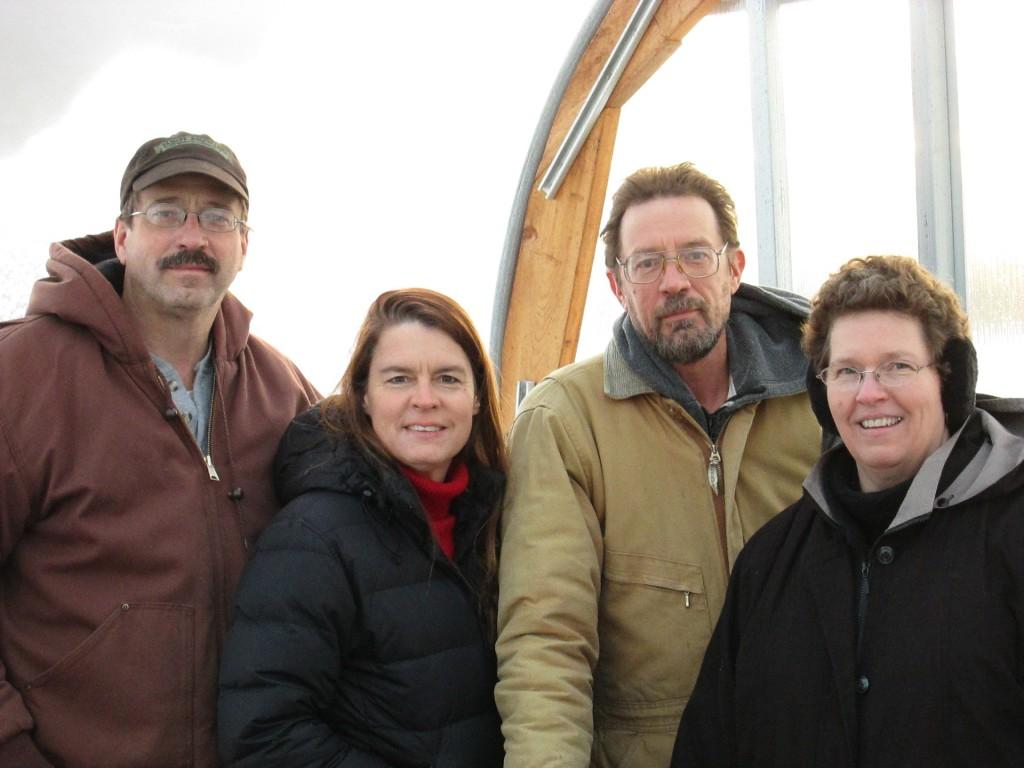 Dan, Theresa, David and Ginger Podoll of Prairie Road Organic Seed