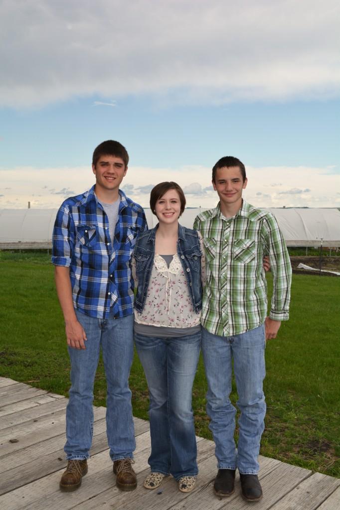 Tomi, Blaze, and Trey Jones of Coteau Sunrise Farm