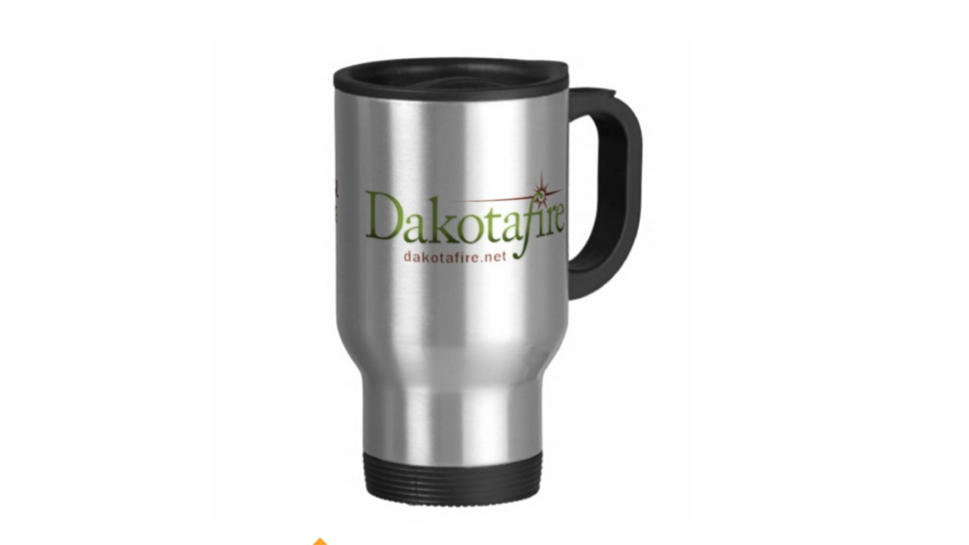 This fine travel mug could be yours!