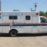 The Douglas County Ambulance. Photo by The Corsica Globe