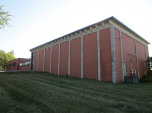 A former industrial building could become a more pleasant space with the addition of windows.