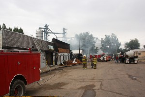 Fire destroyed several Willow Lake businesses in 2011. Photo by Clark County Courier