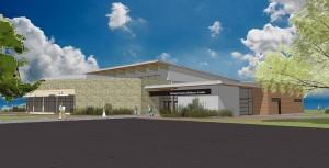 The concept drawing of the De Smet Event & Wellness Center.