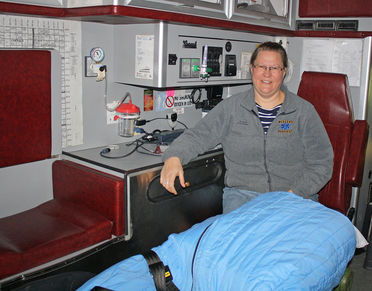 Corsica recently overcame the threat of losing its Douglas County Ambulance service due to lack of volunteers. Now, a new ambulance is needed, but emergency medical technician Karen Johnson said funding the purchase will be difficult.