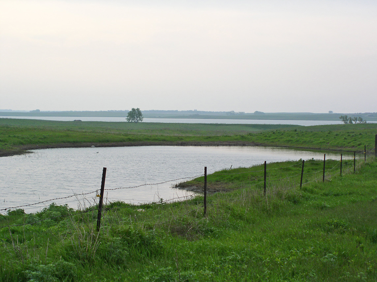 The protection of surface and ground water is an important part of Rick Smith's agricultural plan. Photo by Rick Smith
