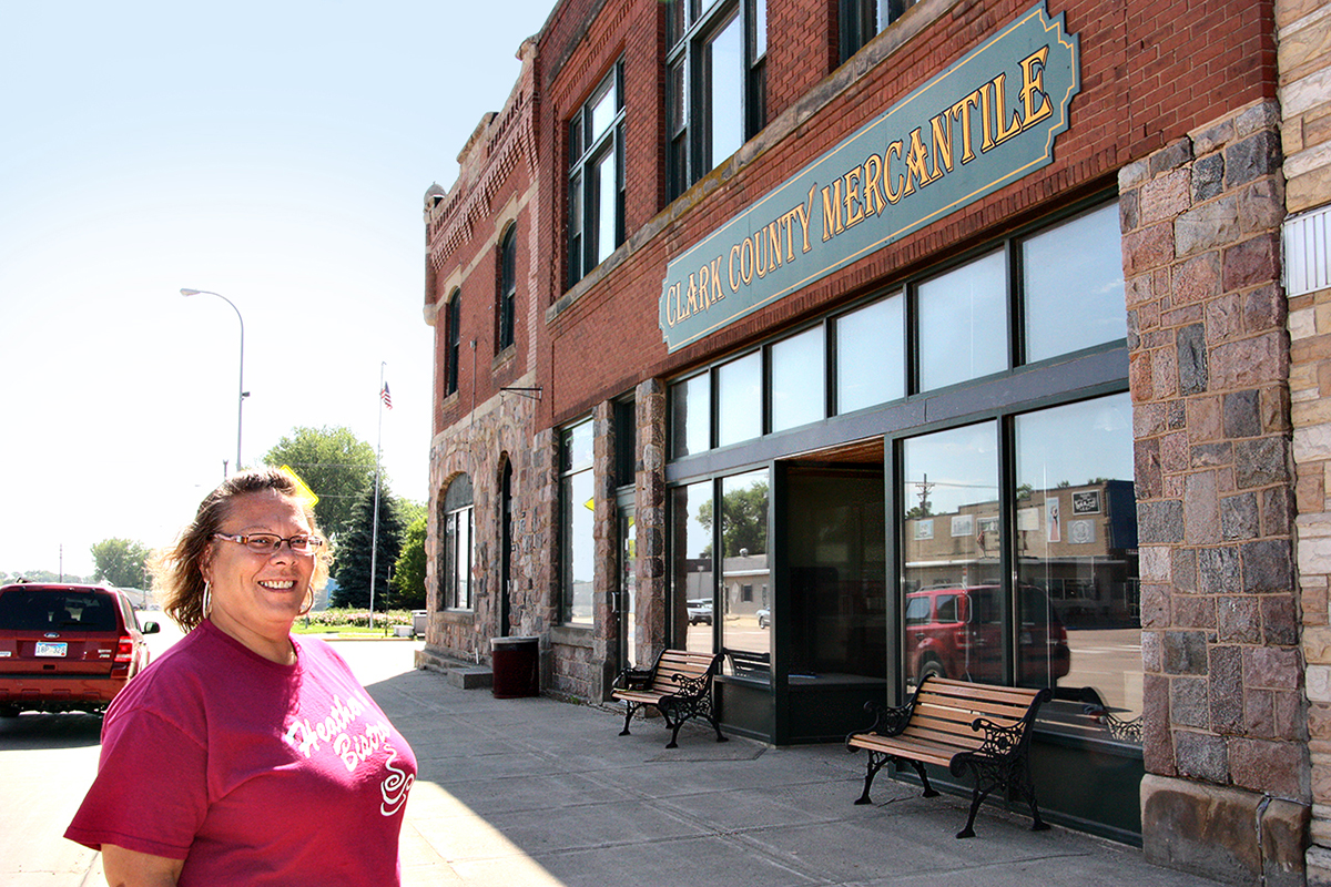 Heather Johannsen moved her business, Heather's Bistro, into a new location, an old building along U.S. Highway 212 in Clark, last summer. Photo by Bill Krikac/Clark County Courier
