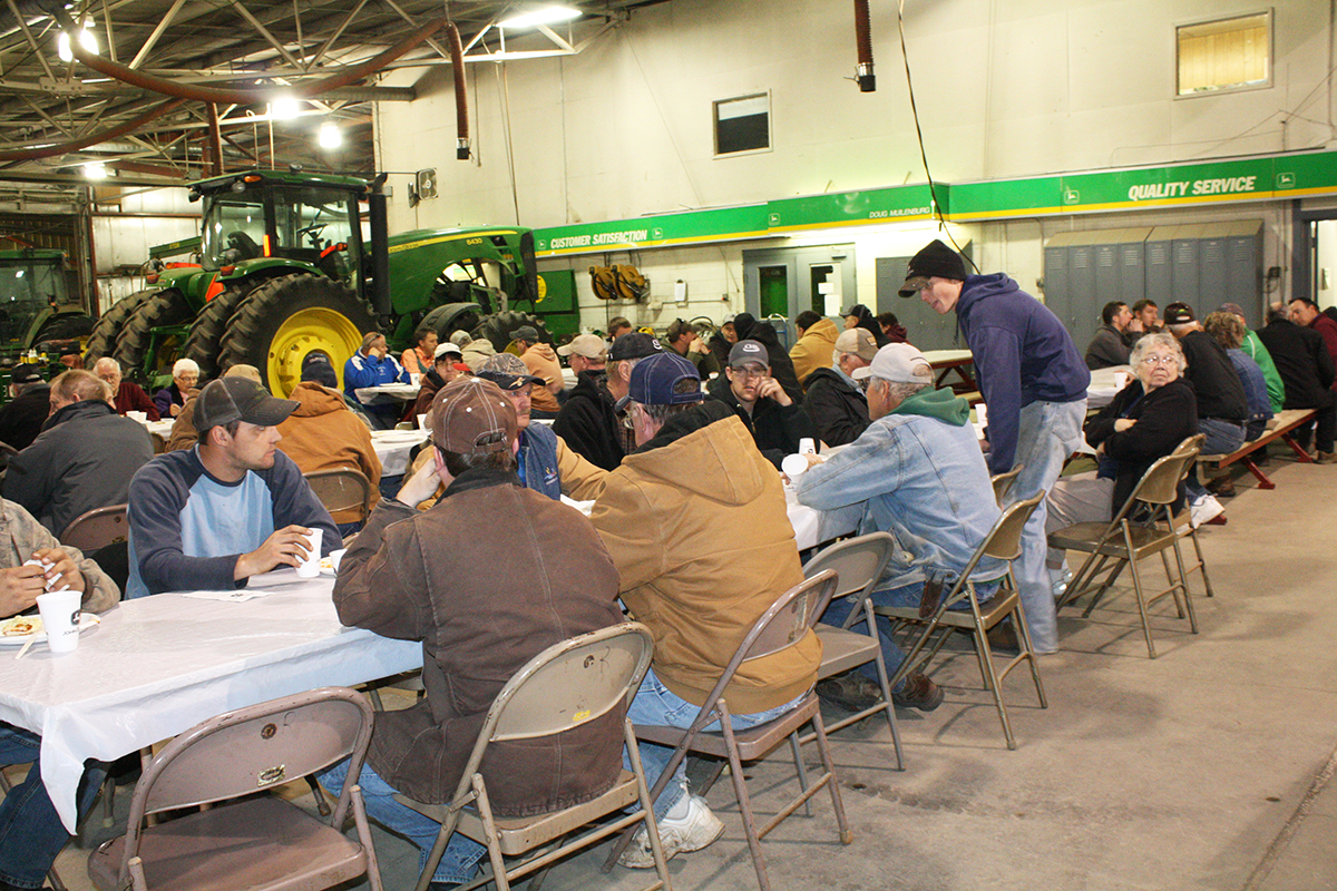 Members of the Corsica community gathered in April for Noteboom Implement's customer appreciation days.