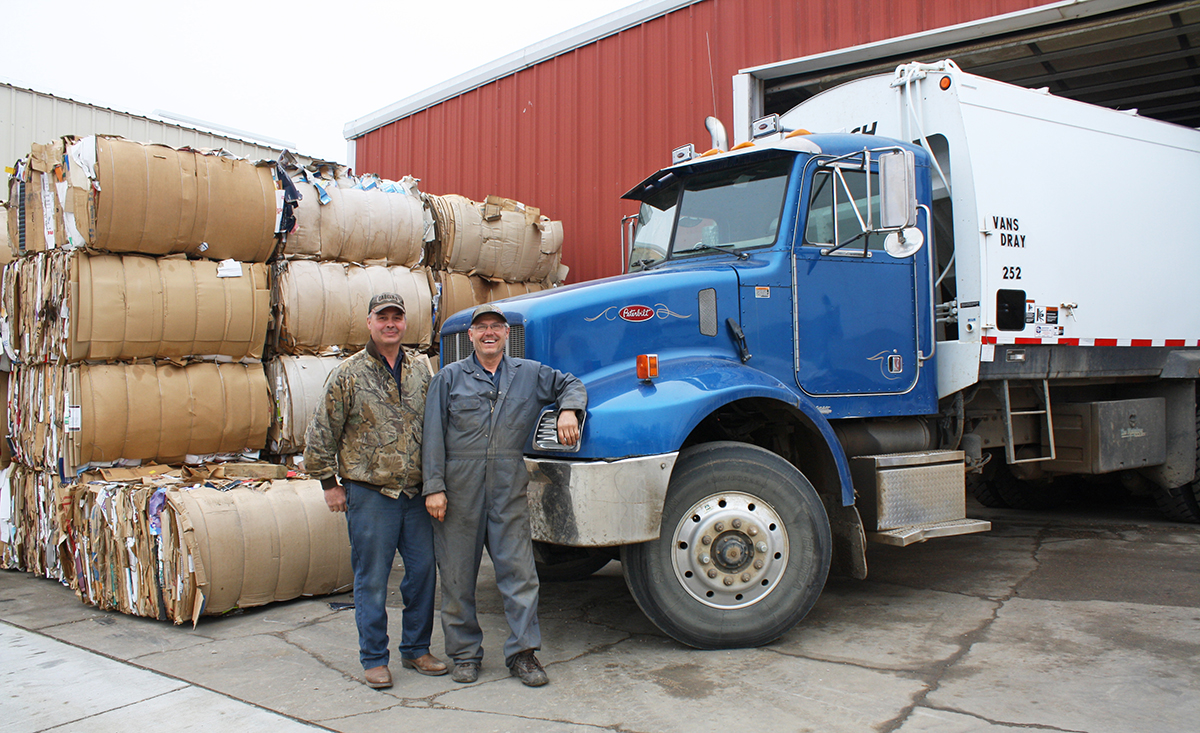 Rod and Dwight VanRoekel began collecting recyclable materials a decade ago, at the prompting of area youths. Photo by Tina Strid