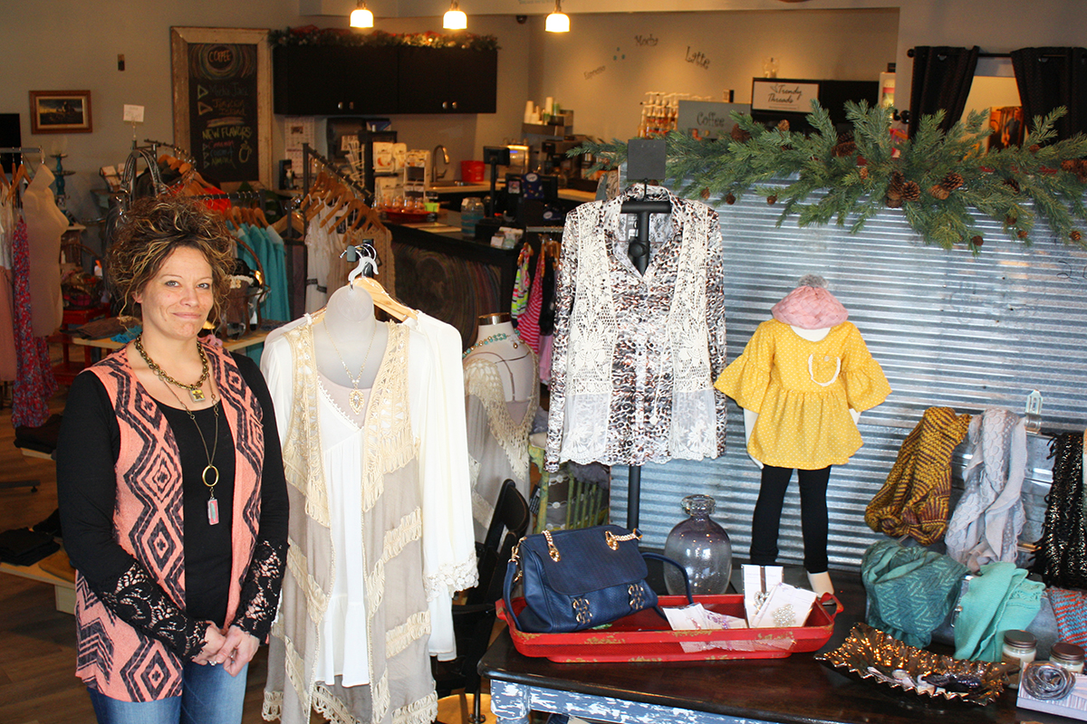 Edmunds Central High School graduate Megan Garner decided on a whim while visiting family last winter that she would like to open a business in her hometown of Roscoe. Now she's settled into a career as owner of Trendy Threads, a boutique and coffee shop.