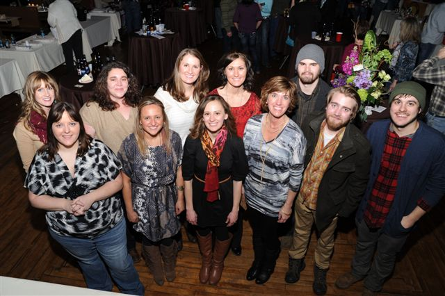DeSmet's Young Guns committee along with the band at the Wilder Night Wine Tasting Contributed photos