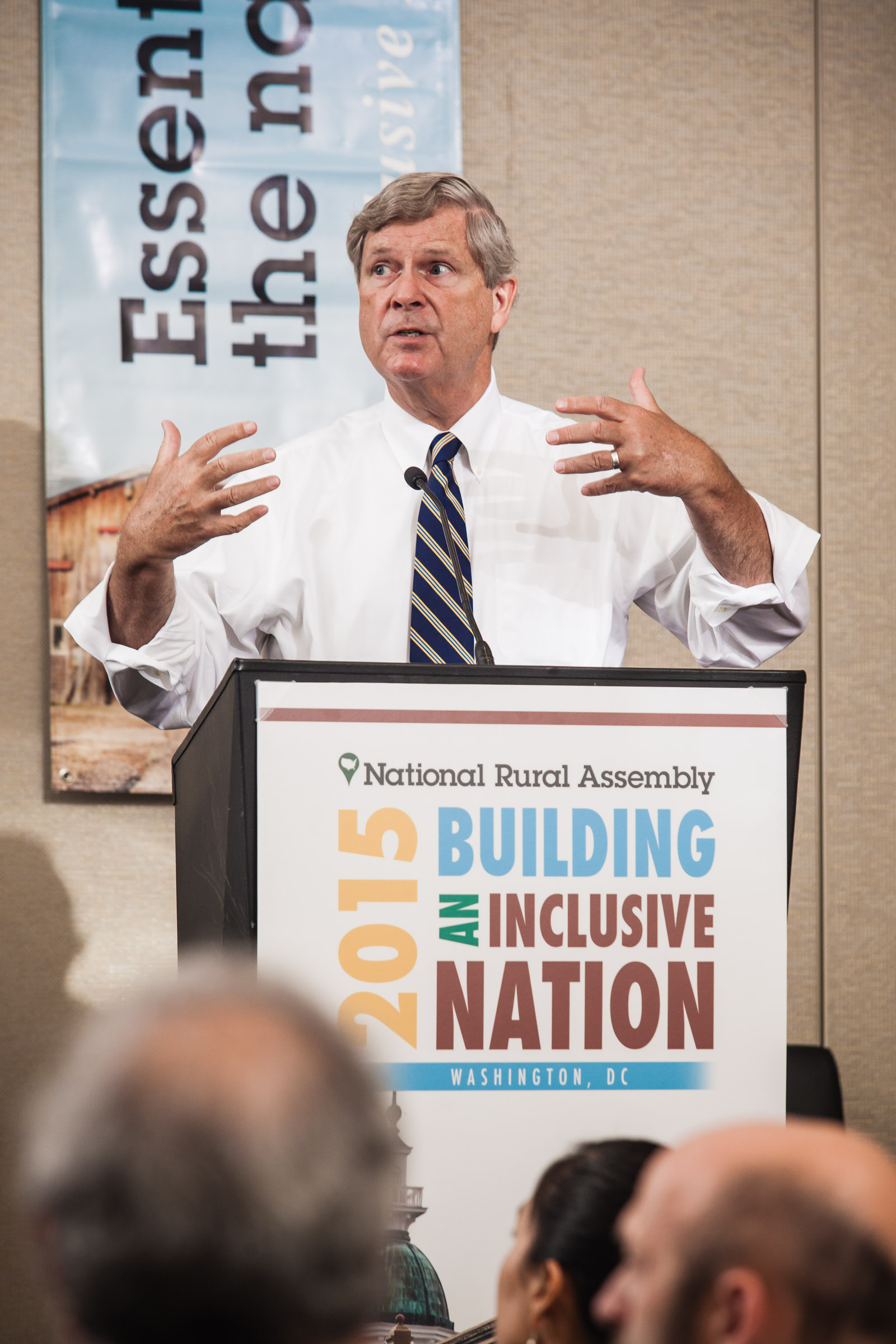 U.S. Secretary of Agriculture Tom Vilsack spoke at the National Rural Assembly in September. Photo by Shawn Poynter/The Daily Yonder