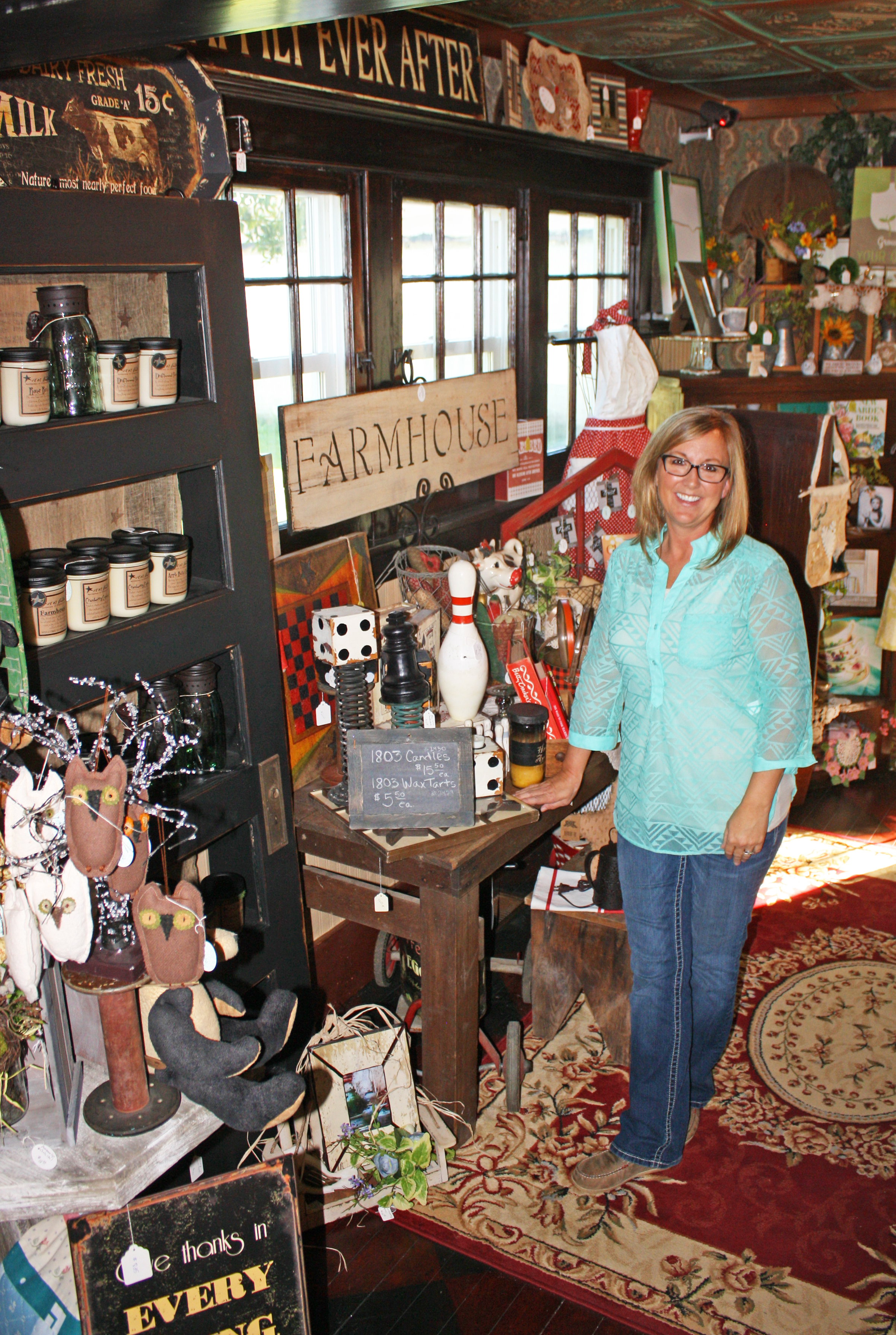Above: Gaylene Christensen, owner of The Prairie Porch in Arlington, says small towns can become destinations if they find their niche.