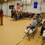 Ellendale, N.D., residents gathered Monday at the school gym for a Veterans Day program. Across America, the service and sacrifice of veterans is celebrated officially on Nov. 11 each year.