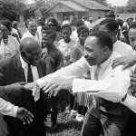 This photo, from a 1966 sit-in in Lisman, Ala., sparked a conversation that changed the way young and old leaders in western Alabama related to one another. Photo courtesy Pamelia Harris