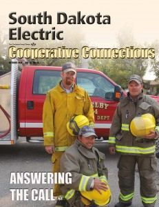 The October issue of Cooperative Connections, the magazine of South Dakota electric cooperatives, featured electrical employees who also volunteer in their communities. Pictured here are employees of Cam-Wal Electric Cooperative in Selby: Robert Froning, Brent Reiley and Matt Hein. Contributed Photo