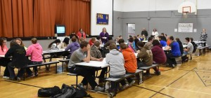 All Doland seventh- through 12th-graders attended the event. Photo by Jennie Patrick