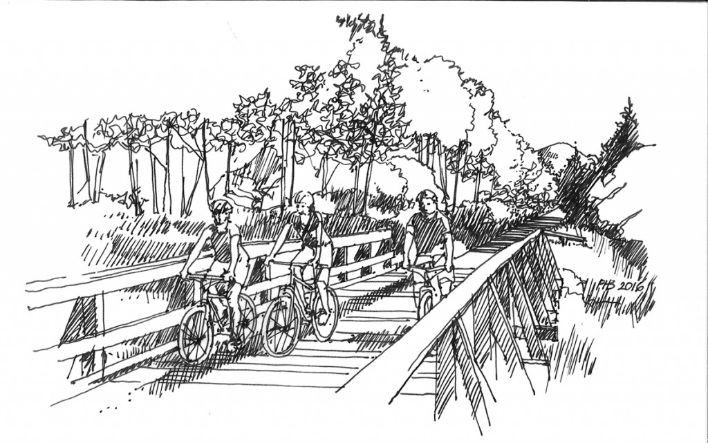 Designing development with the surrounding natural world also in mind reduces air and water pollution, protects property values, preserves agricultural and natural systems and encourages people's connection to those systems. Vibrant landscapes can provide diverse recreational opportunities for residents and visitors.