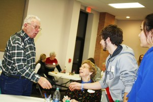 The importance of handshakes was emphasized at the event. Photo by Wendy Royston