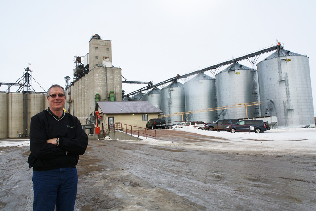 "Tim Luken, general manager of Oahe Grain Corp., a 5.9 million-bushel elevator, says Onida ""won the lottery"" when Ringneck Energy officials announced they are interested in producing ethanol there. Photo by Wendy Royston"