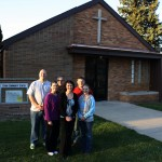 The community of Ethan, S.D., will come together Friday evening, to create a space for future gatherings in the town of 330 in southeastern South Dakota. The City of Ethan purchased the 4,800-square-foot building that housed the town's Catholic church last year, to renovate it into a community center. Committee members (back row, left to right) Shane Comp, Don Jarvis, Marty Royston (front row, left to right) Leah Mellegaard, Michele Pollreisz, Annie Haag and Michelle Klumb (not pictured) will present their plans to the community and formally begin the process of raising funds for the renovation project. (photo by Wendy Royston, managing editor)