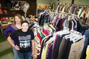 Nicole (left) and Hope Neugebauer stand inside the Armour Community Exchange, a freewill thrift shop on Main Street, Armour, S.D. The Exchange was a Horizons project over a decade ago that continues to operate with the help of several community volunteers.