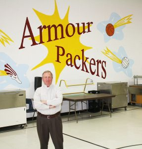 "Armour, S.D., Superintendent Burnell Glanzer, who retires after 41 years working in the district this spring, says the key to keeping a building in good condition long-term is ""the people you put in it."" The District's buildings range from 40 to almost 100 years old. ""Make do with what you have, and keep it in good shape,"" he said of the building kept in pristine shape for the District's 170 students. That's kind of the mantra around here, and I think the people in town expect no less from us, so that's what we try to do."""