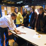 Webster teachers tour workplaces in the town to learn about available jobs so they can better advise their students about local career options. Photo courtesy Webster Area Development Corporation